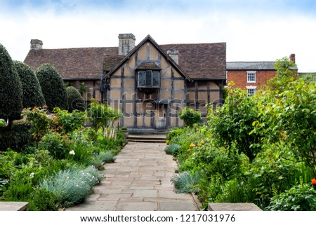Home of William Shakespeare in Stratford upon Avon in England. #1217031976