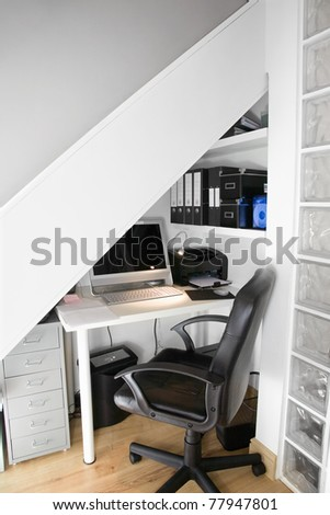 Home office interior set up