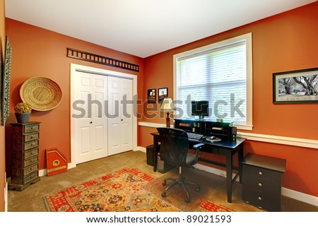 Home office room design interior.