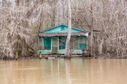 Home on the bayou Louisiana shores.