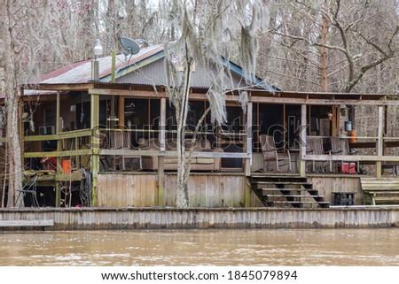Home on the bayou Louisiana shores. Stok fotoğraf ©