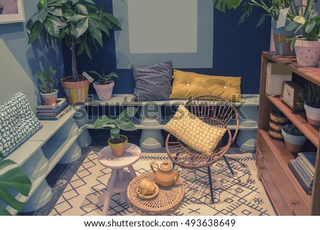 home patio with domestic objects  #493638649