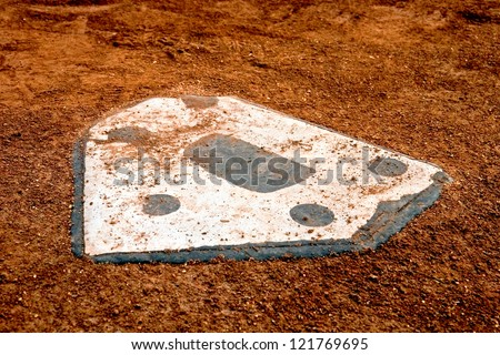 home plate at a baseball park
