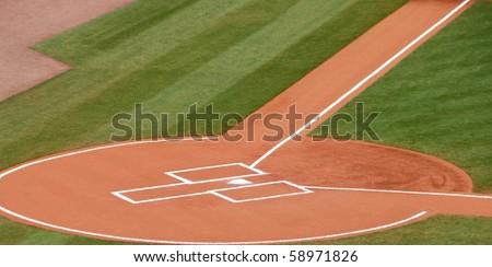 Home plate at major league baseball stadium atlanta georgia