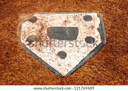 home plate on a baseball field