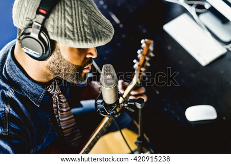 Home recording musician series ストックフォト ©