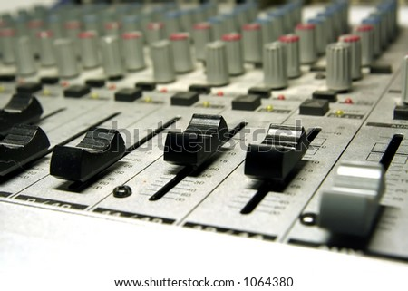 home recording studio/mixer - small depth of field focused on scale/controller