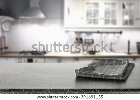 home retro interior background of kitchen in white color and table with shadows