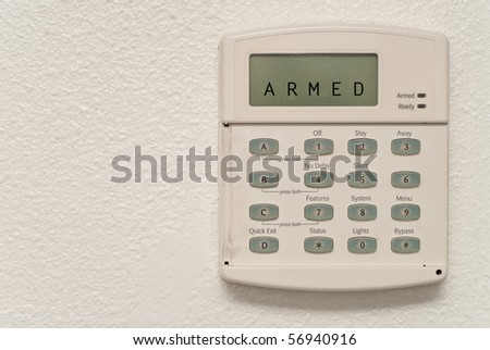 Home Security System Armed