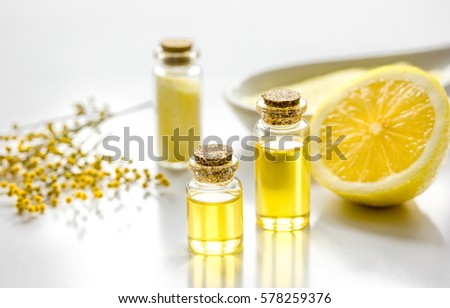 home spa with essential oil and ...