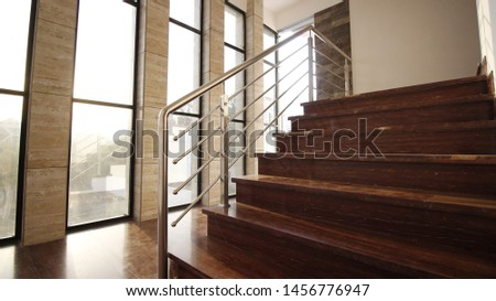 home stairs with window at morning  #1456776947