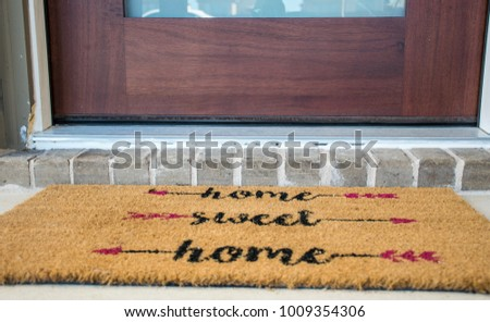 home sweet home doormat....