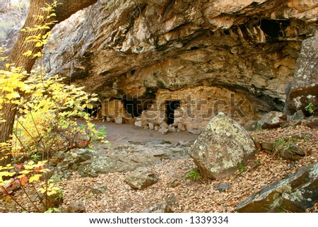 Home sweet home in Gila Cliff Dwellings in southwestern New Mexico.