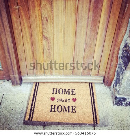 Home sweet home mat #563416075