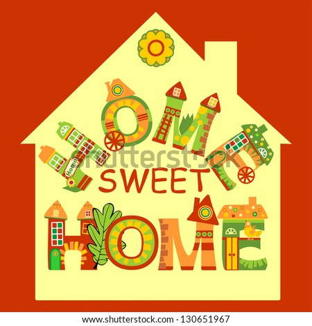 Home Sweet Home Sign, Raster Version