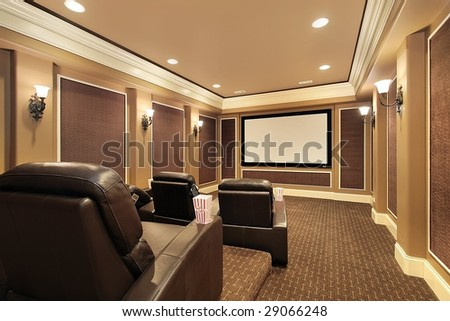 Home theater in luxury home #29066248