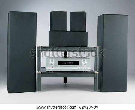 home theater isolated on plain background with clipping path