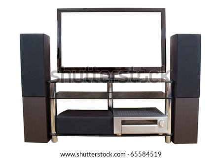 Home theater isolated on the white background