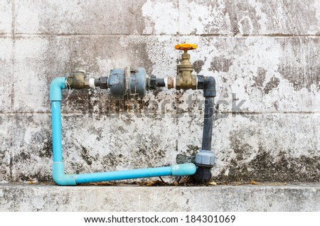 Home water valve , Home water meter , Home water meter old