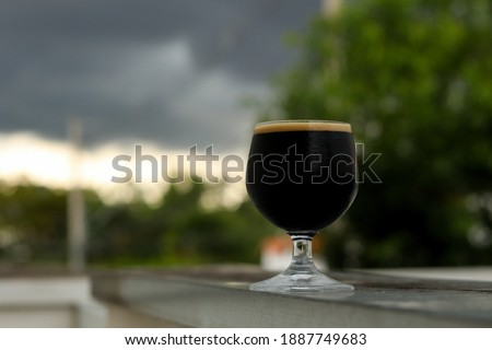Homebrew Craft Beer Imperial Stout Stock photo ©