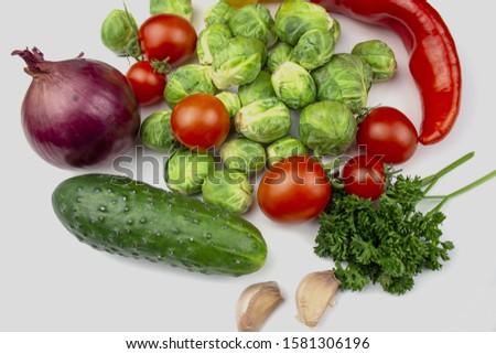 Homegrown vegetables. Fresh organic vegetables. Vegetables from garden. Colorful vegetable. Healthy vegetable. isolate