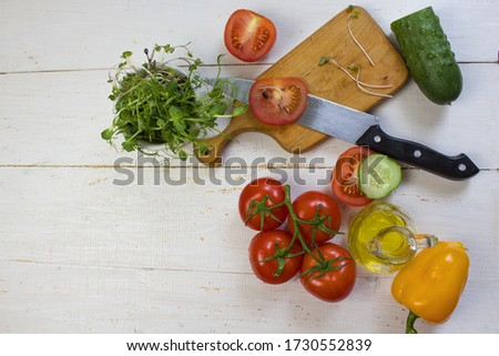 Homegrown vegetables. Fresh organic vegetables. Vegetables from the garden. Colorful vegetable. Healthy vegetable. Microgreen. View from above. Banner. Copyspace.