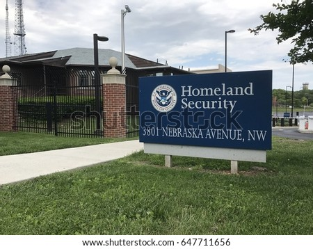 Homeland Security sign in Washington, D.C.