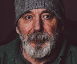Homeless hobo portrait