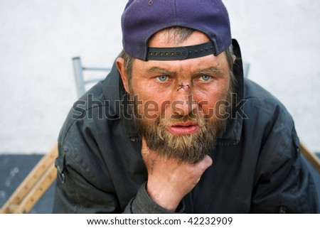 Homeless in depression.