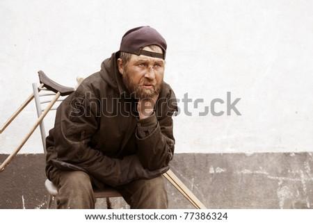 Homeless man