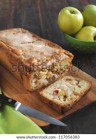 Homemade apple cake with cinnamon