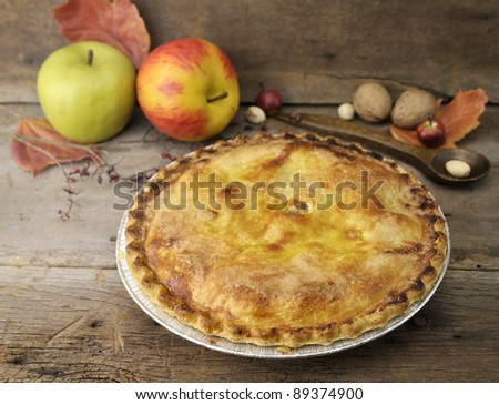 Homemade Apple Pie On A Wooden Background