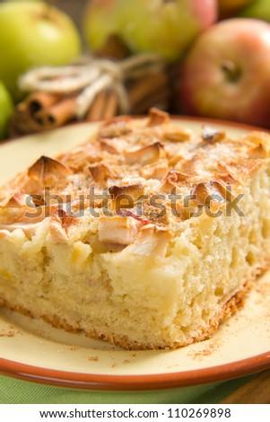 Homemade apple pie with cinnamon