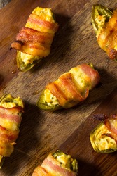 Homemade Bacon Wrapped Jalapeno Poppers with Cream Cheese