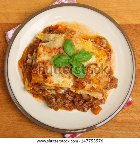 Homemade beef lasagna made to a traditional Emilia Romagna recipe.