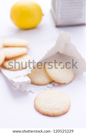 homemade biscuits with lemon chip
