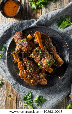 Homemade Braised Lamb Shanks with Sauce and Herbs #1026310018