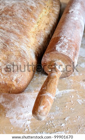 homemade bread on wooden boarder