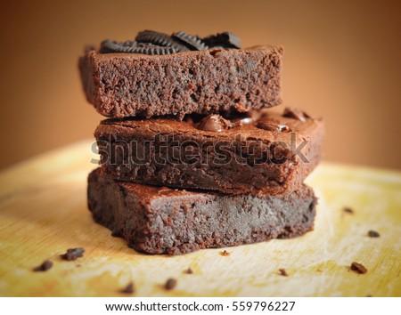 Homemade brownies.