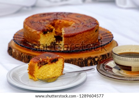Homemade cake Romeo and Juliet - cheese with guava. Foto stock ©