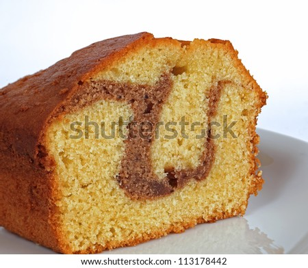 homemade cake with cocoa