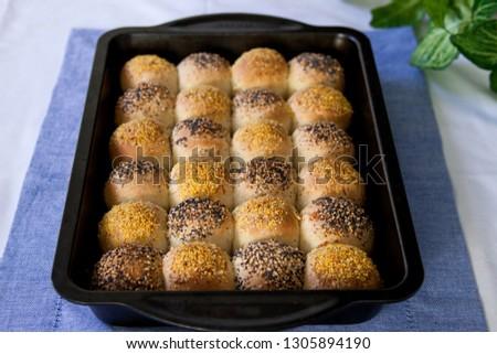 Homemade checkerboard  rolls #1305894190