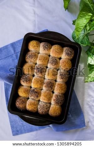 Homemade checkerboard  rolls #1305894205