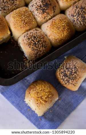 Homemade checkerboard  rolls