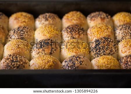 Homemade checkerboard  rolls #1305894226