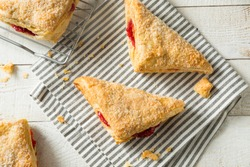 Homemade Cherry Turnover Pastries Ready to Eat