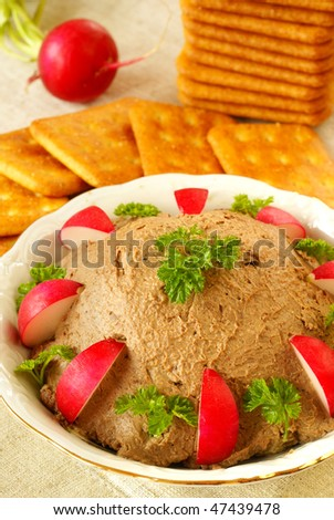 Homemade chicken liver pate