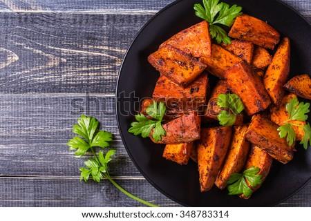 homemade cooked sweet potato...