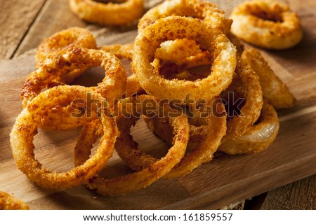 Homemade Crunchy Fried Onion Rings With Ketchup Stock Photo 161859557 ...