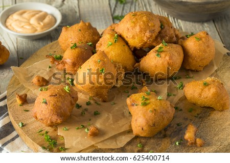 Homemade Deep Fried Hush Puppy Corn Fritters